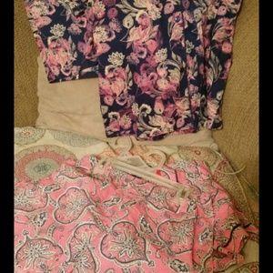 2 pair Liz Claiborne Pajamas Small
